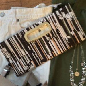 Handbags - Multicolored Satin Clutch